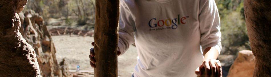 Google Long-Sleeved-Ad at Bandelier National Monument